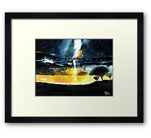 White Streak Framed Print
