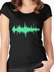 Music Track Sound Wave  Women's Fitted Scoop T-Shirt