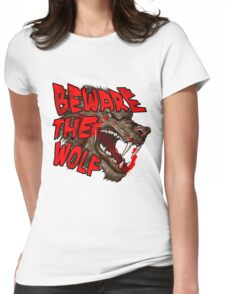 Beware The Wolf Womens Fitted T-Shirt