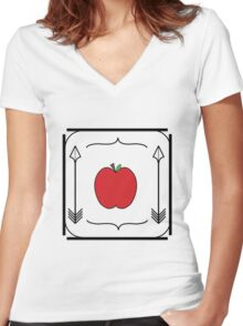 Of Apples and Arrows Women's Fitted V-Neck T-Shirt
