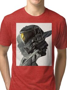 Halo Game Master Chief Illusions Most Popular Xbox ps Tri-blend T-Shirt