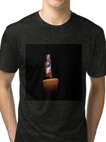 American Flag Candle Tri-blend T-Shirt