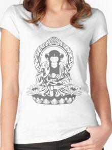 Zen Sapience Halftone Women's Fitted Scoop T-Shirt