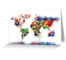 world map flags 5 Greeting Card