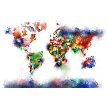 world map flags 5 Photographic Print