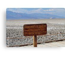 Bad Water Death Valley Canvas Print