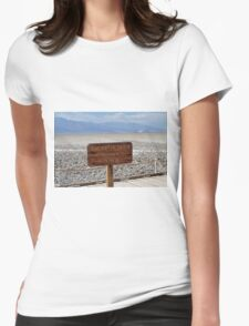 Bad Water Death Valley Womens Fitted T-Shirt