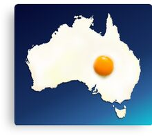 Fried Egg Cartography - Australia 2 Canvas Print