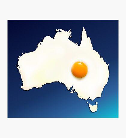 Fried Egg Cartography - Australia 2 Photographic Print