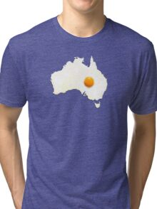 Fried Egg Cartography - Australia 2 Tri-blend T-Shirt