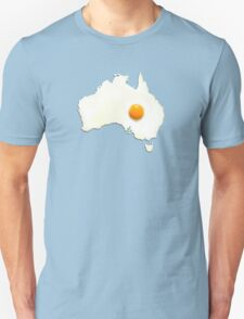 Fried Egg Cartography - Australia 2 Unisex T-Shirt