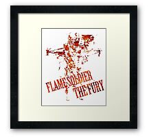 Flame Soldier - The Fury Framed Print