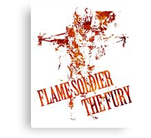 Flame Soldier - The Fury Canvas Print