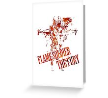 Flame Soldier - The Fury Greeting Card