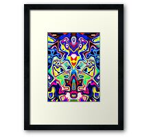 Abstract Pop Art Faces Framed Print