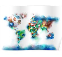 world map flags 6 Poster