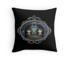 Hitchhiking Ghost Throw Pillow
