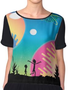 Rick and Morty Chiffon Top