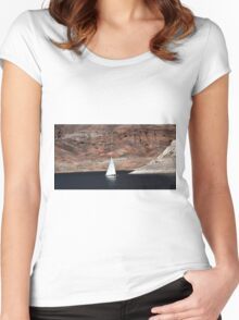 On Lake Mead Women's Fitted Scoop T-Shirt