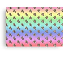 Rainbow pizza Canvas Print