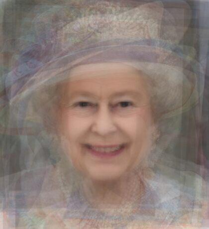 Queen Elizabeth II Portrait Sticker