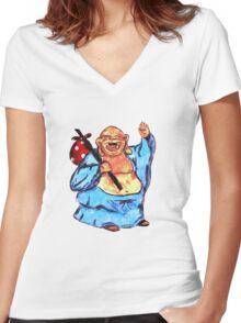 Adventure Buddha Women's Fitted V-Neck T-Shirt