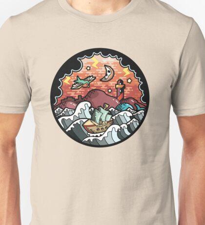 Oldschool storm landscape Unisex T-Shirt