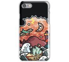 Oldschool storm landscape iPhone Case/Skin