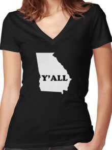 Georgia Yall Women's Fitted V-Neck T-Shirt