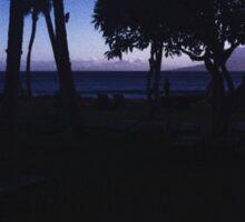 Hawaii Sky With Trees Sticker