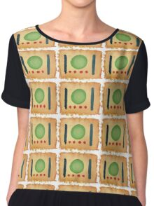 the Shroud of a Meal Chiffon Top