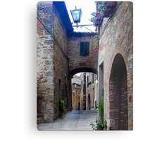 Narrow Street in Cetona Tuscany Metal Print