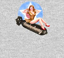 Bombs Away - Sexy Girl Pinup Womens Fitted T-Shirt