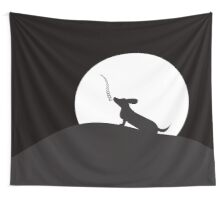 Dachshund Howl Wall Tapestry