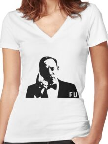 FU Women's Fitted V-Neck T-Shirt