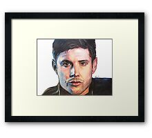 Dean Winchester/ Jensen Ackles Coloured Pencil Framed Print