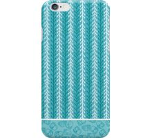Kelp Ribbon, Periwinkle Shells & Starfish in Aqua, White, and Red Tones iPhone Case/Skin