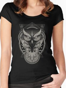 Alchemy Owl Women's Fitted Scoop T-Shirt