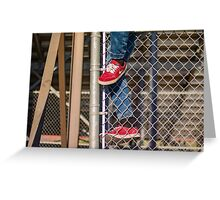 Climb The Fence Greeting Card