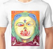 Golden psychedelic god Unisex T-Shirt