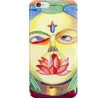 Golden psychedelic god iPhone Case/Skin