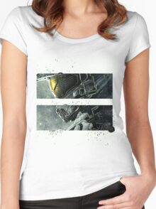 Halo Master Chief Art T-Shirt Illusions Most Popular Women's Fitted Scoop T-Shirt