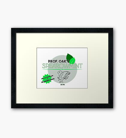 Spearowmint Gum Framed Print