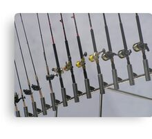 Fishing Poles Metal Print