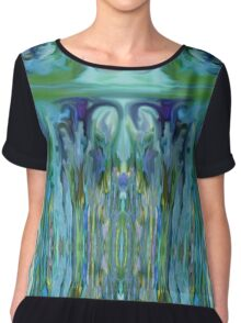 Cool Abstract Drip Painting Chiffon Top