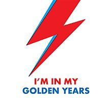 "David Bowie ""I'm in my Golden Years"" original design Photographic Print"