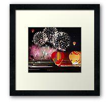 After Glow™ Fireworks Show.3 Framed Print