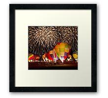 After Glow™ Fireworks Show.4 Framed Print