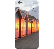 Sunlight Illuminating Beach Huts iPhone Case/Skin