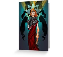 The Woman Who Cried Reaper Greeting Card
